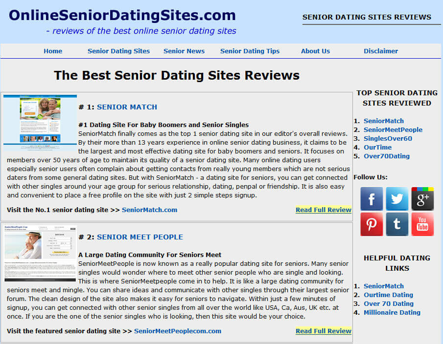 Advance reviews on dating sites